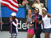 Sloane Stephens, Varvara Lepchenko, Serena Williams, Venus Williams